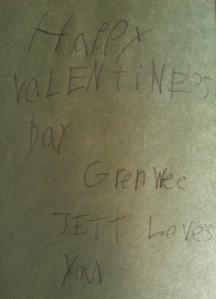 Ella's Valentine Note to GW