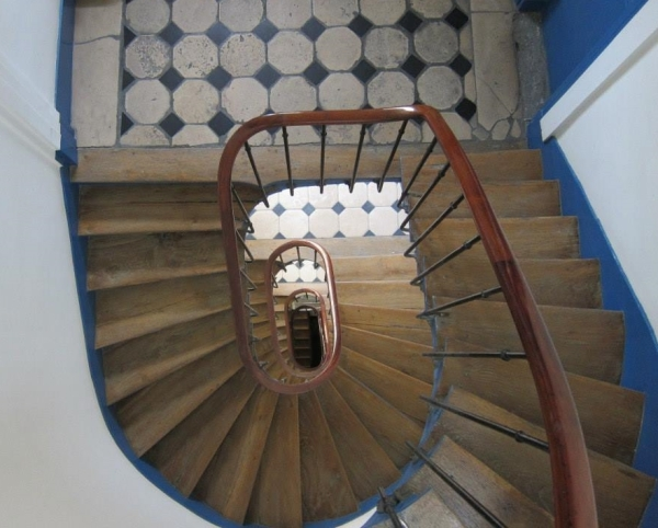 The Stairs to Joe and Aubyron's Paris Apartment
