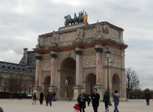 Not the Arc de Triomphe, but it was beautiful